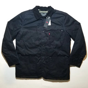 Levis Sherpa Lined Engineers Coat Waxed Cotton NWT